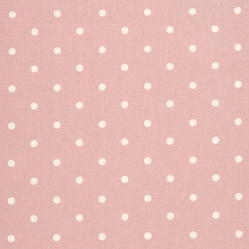 Rose Pink Dot Oilcloth  (price per half meter)