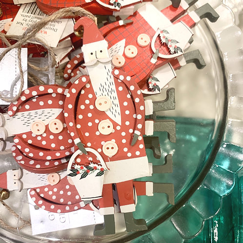 Polka Dot Scandi Santa Decoration
