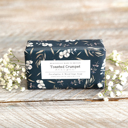 Toasted Crumpet Eucalyptus & Wood Sage 190g Soap Bar