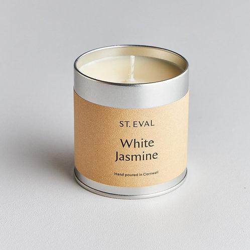 St. Eval White Jasmine Tin Candle