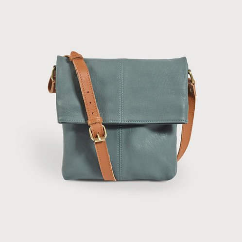 Quintessential Green Leather Fold Over Bag