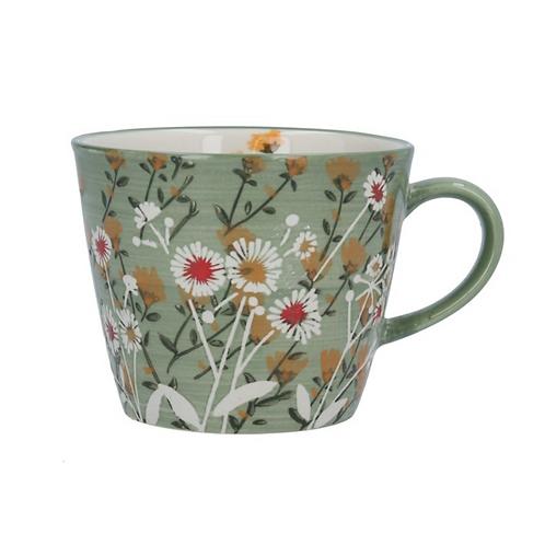 Gisela Graham Green Wild Daisy Mug