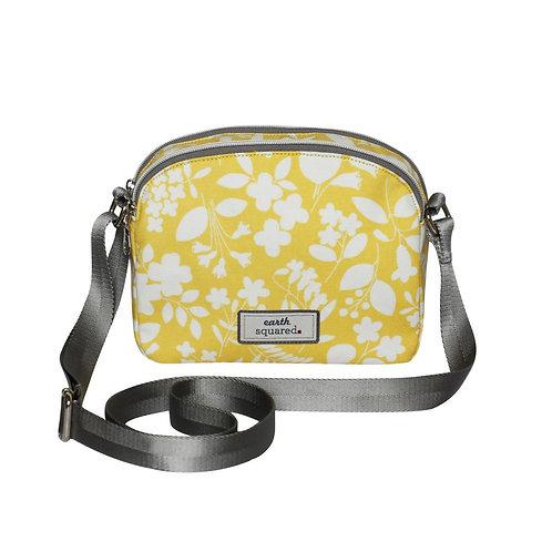 Earth Squared Sherbet Yellow Oil Cloth Halfmoon Bag