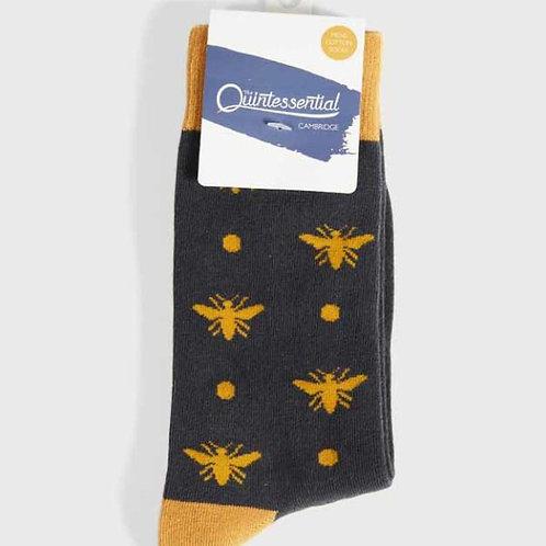 Quintessential Mens Mustard Bees Socks