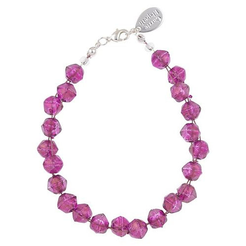 Carrie Elspeth Fuchsia Faceted Double Strand Bracelet