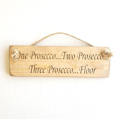 Austin Sloan Handmade 'Three Prosecco' Sign