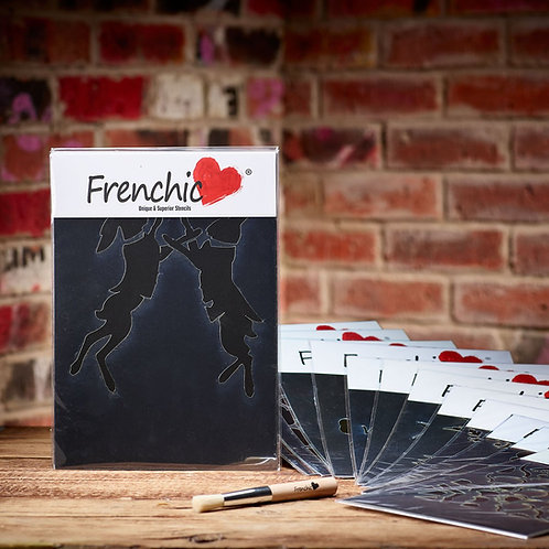 Frenchic Boxing Hares Stencil