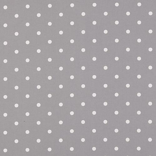 Smoke Dot Oilcloth (price per half meter)