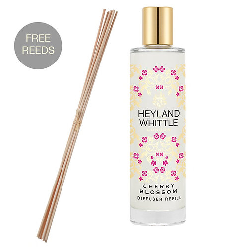 Heyland and Whittle Gold Classic Cherry Blossom Reed Diffuser Refill 200ml