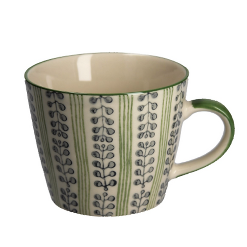 Gisela Graham Stripes and Berries Ceramic Mug