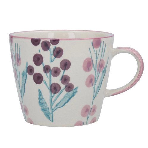 Gisela Graham Purple Wattle Mug