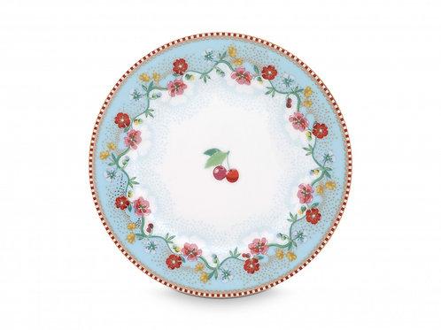Pip Studio Blue Cherry Plate 17cm