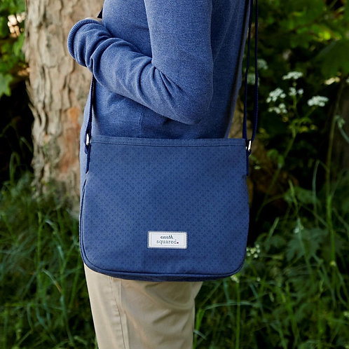 Earth Squared Floral Navy Canvas Rosy Bag