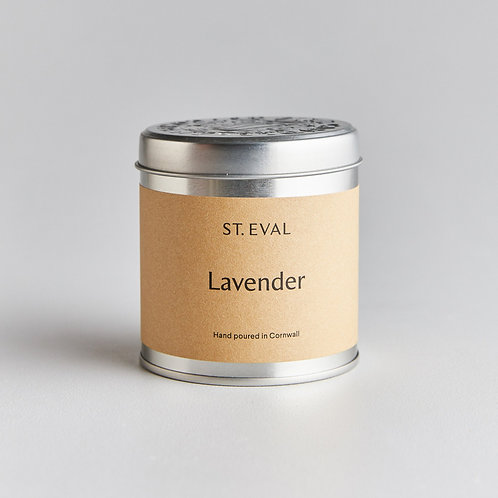 St. Eval Lavender Tin Candle