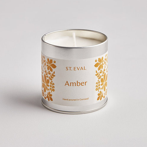St. Eval Amber Tin Candle