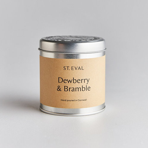 St.Eval Dewberry and Bramble Tin Candle