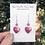 Thumbnail: Kyoto Garden Fuchsia Heart Earrings and Crystal