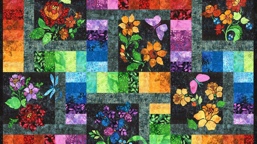 Enchanted Garden Full Quilt Kit