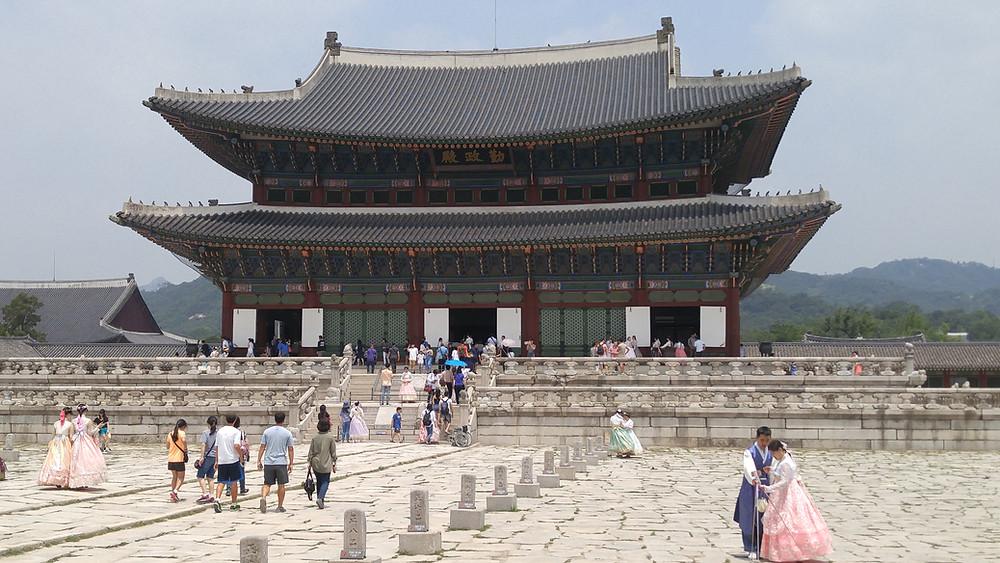 Gyeongbokgung, Seoul, Corea del Sur,