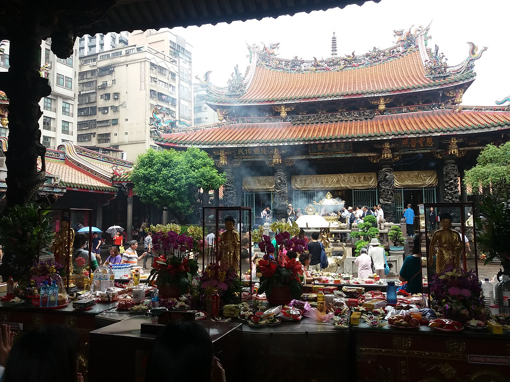 Templo de Longshan, Taipei, Taiwán,