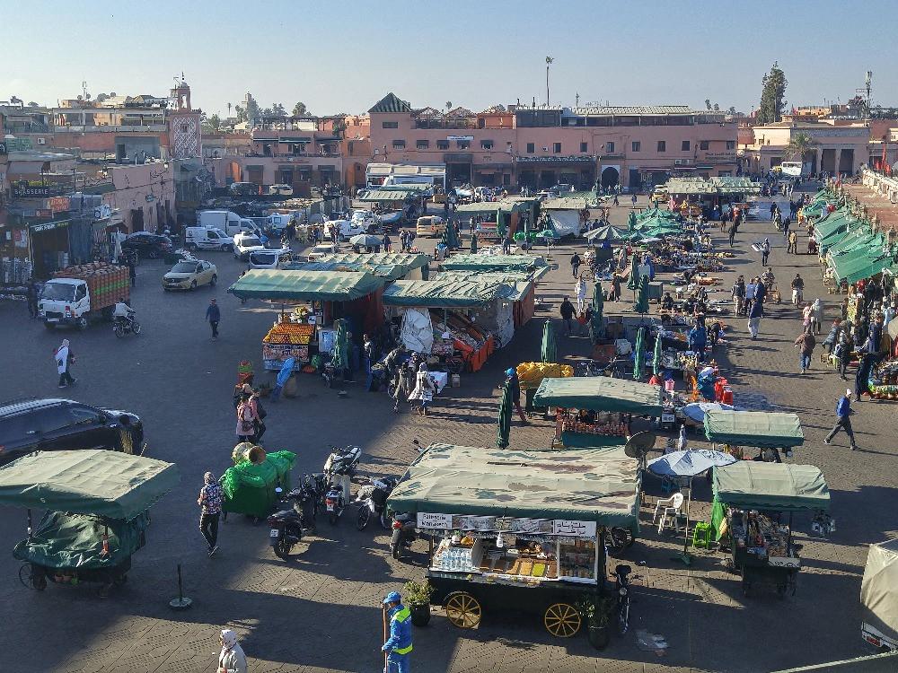 Marruecos, Marrakech, Jema el-Fnaa,