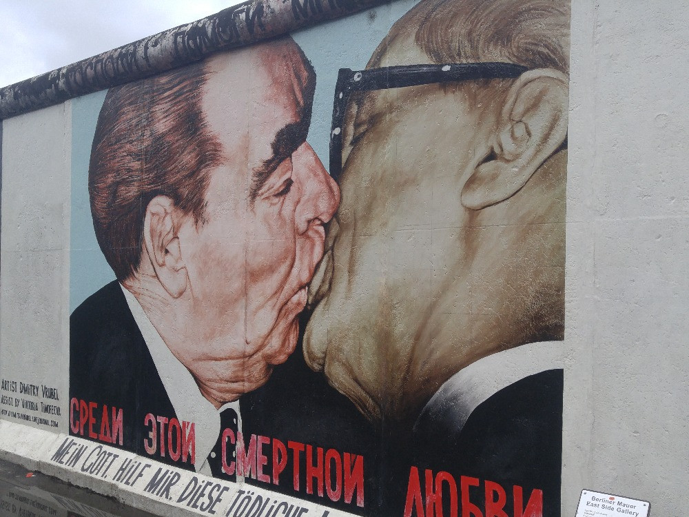 East Side Gallery, Berlín, Alemania,