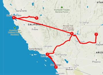 Itinerario de 14 días por la Costa Oeste