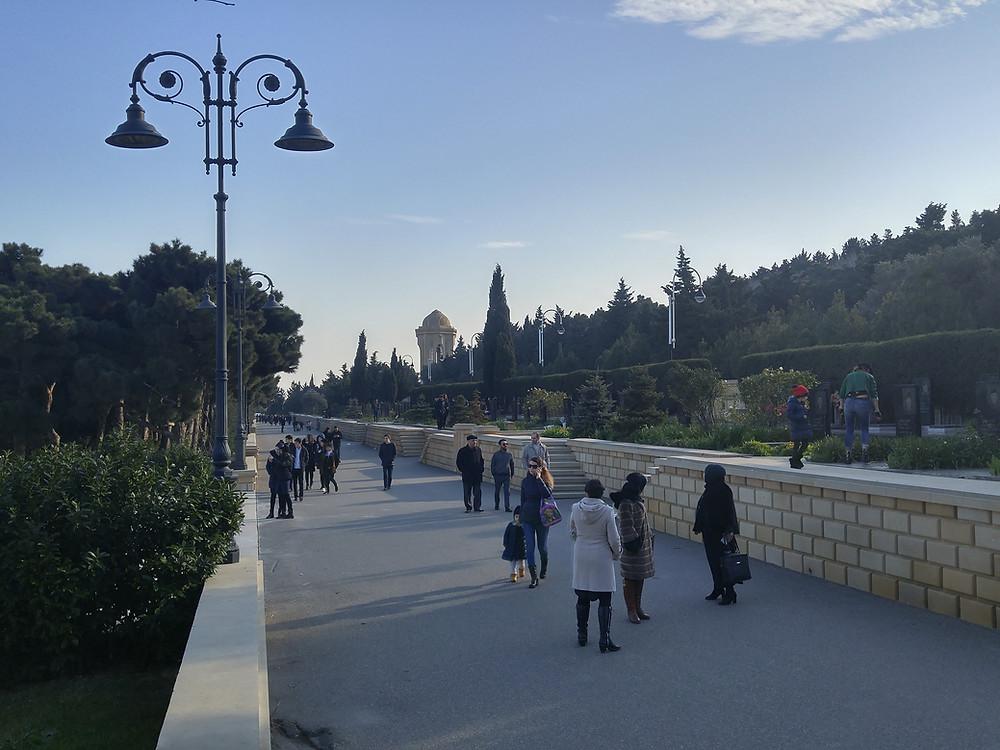 Azerbaiyán, Baku, Callejón de los Mártires,