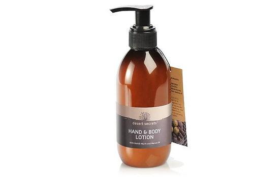 Crème pour les mains et le  corps aux huiles de myrrhe et de marula de Namibie