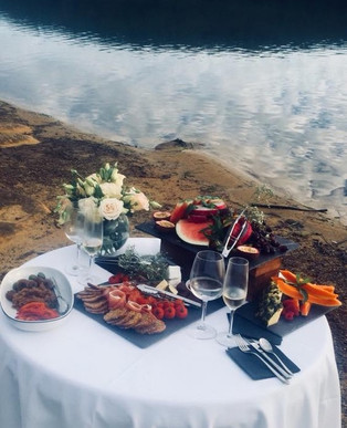 A romantic vegan post proposal breakfast