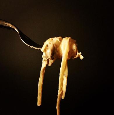 The creamiest mushroom, peppercorn and c