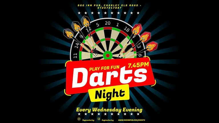 Darts or Doms Every Wednesday