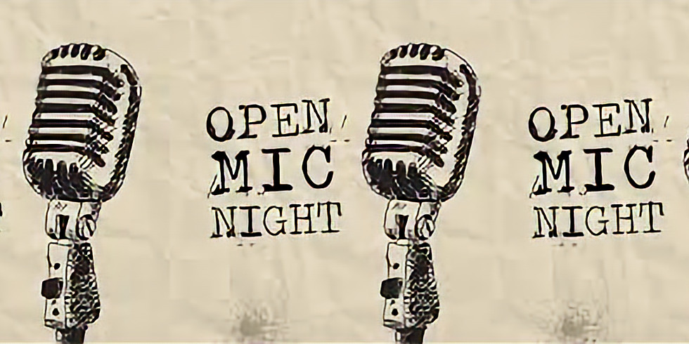 Come down put your name down for Our Open mic night. This Wednesday night from 7.30pm.
