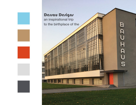 A trip to Dessau visting the Bauhaus was the starting point for this Fashion Design 1 project. Here are a few designs.