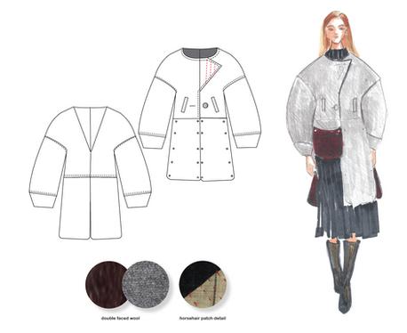 Convertible Coat Design with Illustrator flats