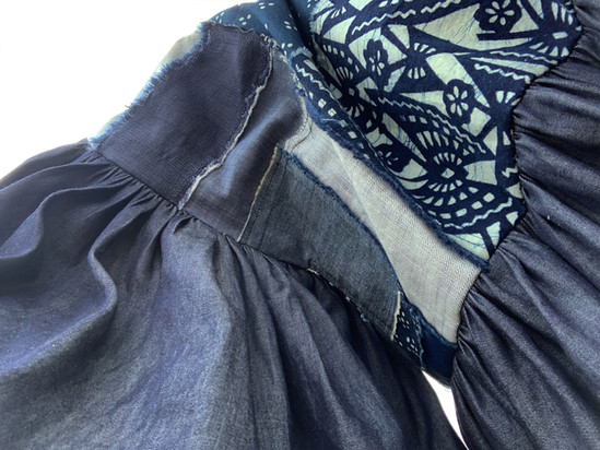 Patchwork and Ruffle detail