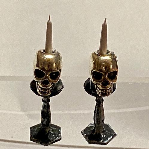 Pair of Skull Candlesticks