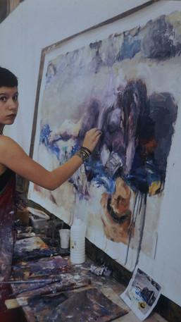 Gabrielle at Hiliadou_processs