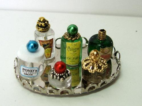Beauty Bottles on Tray