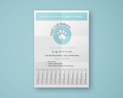PAWS Club Melbourne Contact Poster