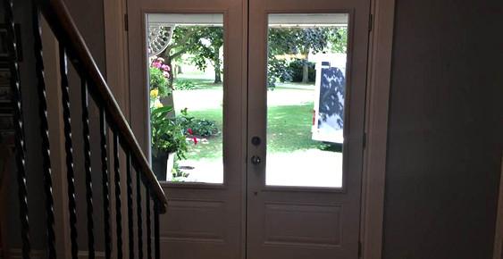 Grand large panel glass frame doors
