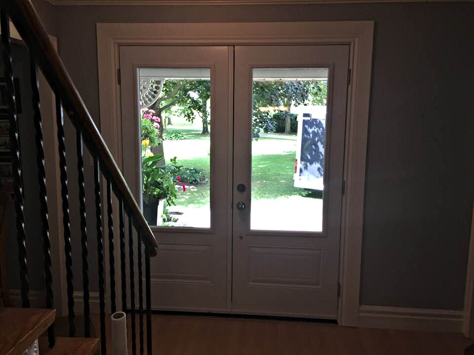 Grand large panel glass frame doors