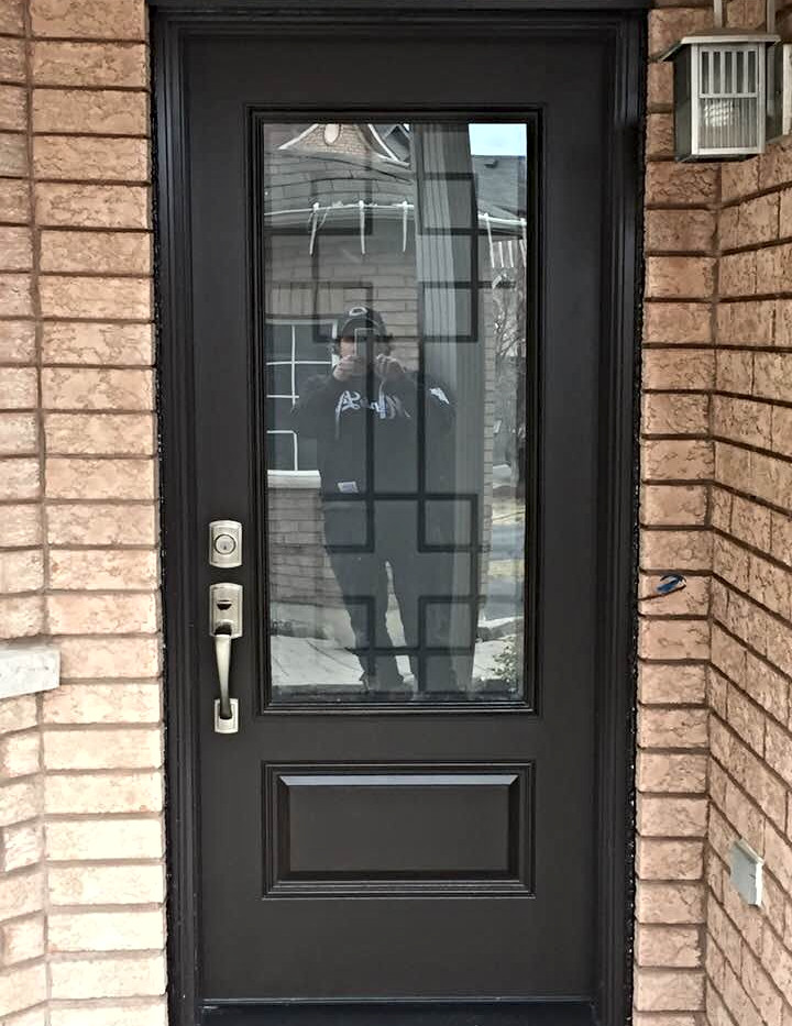 Stunning Door with large frosted window