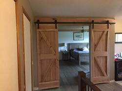 Custom hanging slide door
