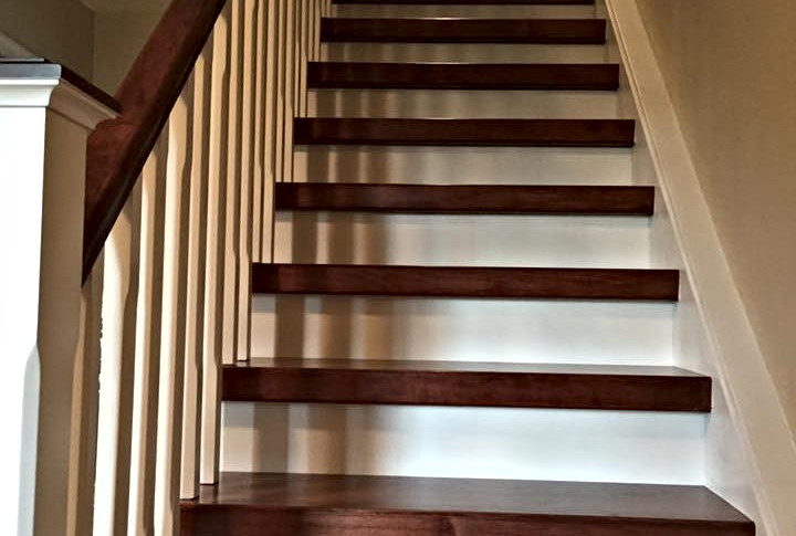 Custom stair case with railing