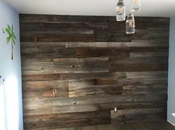 Complete wall repurposed wood