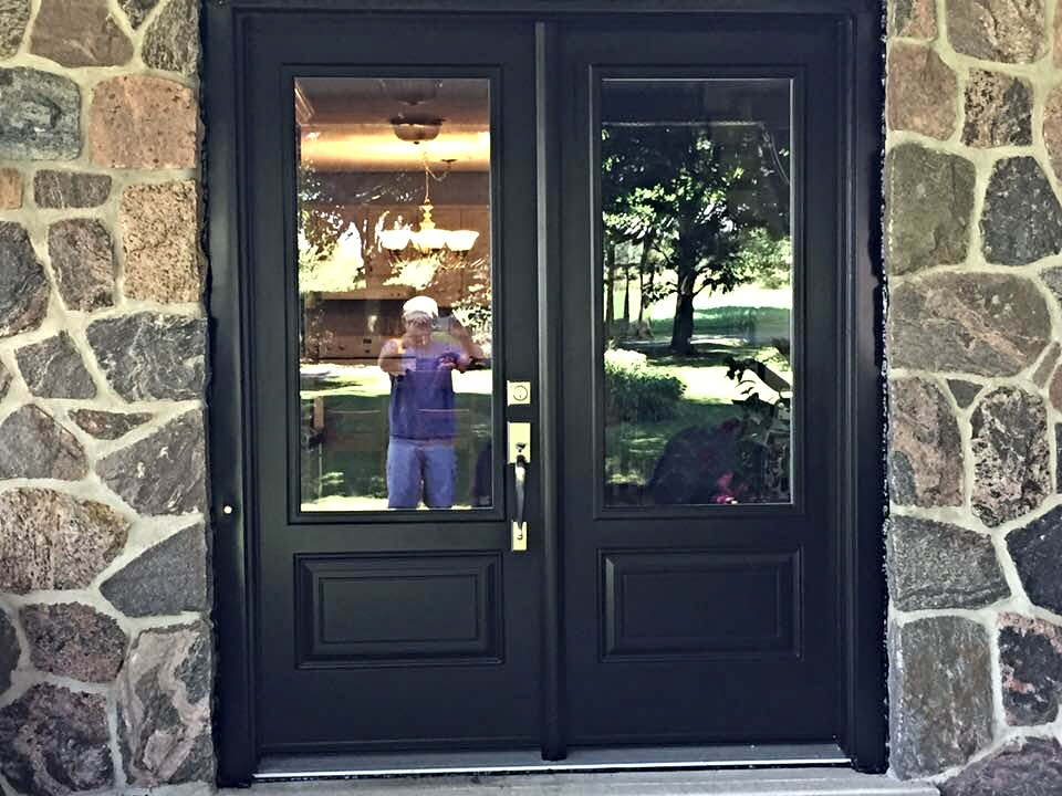 Grand double entry doors