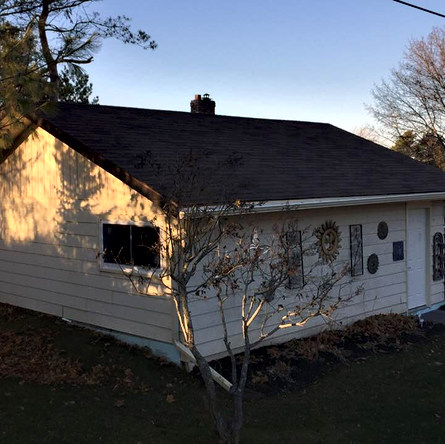 Before Picture of shop re siding