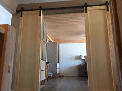 wooden hanging slide doors