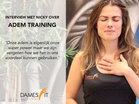 Adem training bij DamesFit